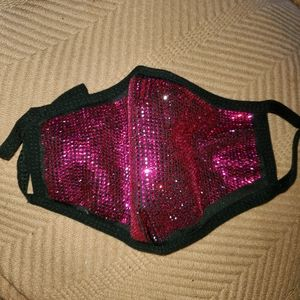 LUX HOT PINK CRYSTAL RHINESTONE MASK NEW